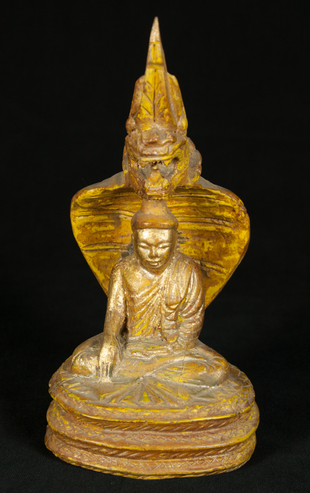 Antique Naga Buddha statue from Burma
