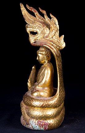 Old Burmese Naga Buddha statue
