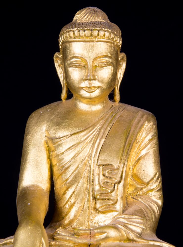Alte birmanische buddha figur aus birma gemacht aus holz for Buddha figur