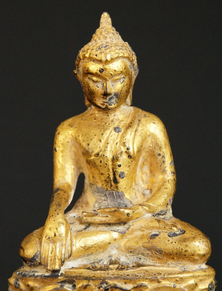 Antique Pagan Buddha from Burma made from Bronze