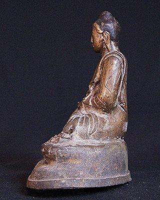 19e eeuwse bronzen Mandalay Boeddha