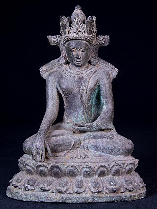 Oude bronzen Bagan Boeddha