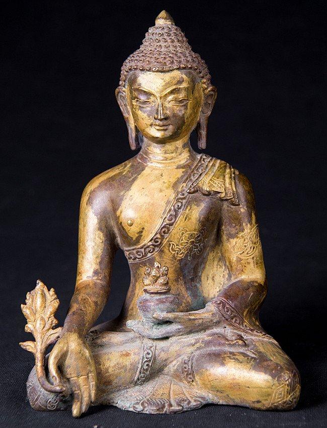 Alte bronze Medizin Buddha Figur