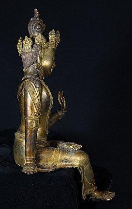Alte bronze Lokeshwor Figur