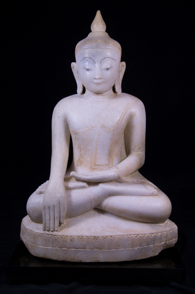 Antique marble Ava Buddha statue from Burma