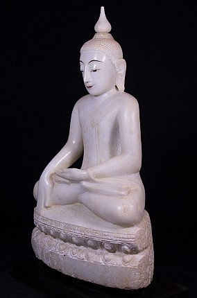 Antiek marmeren Boeddhabeeld