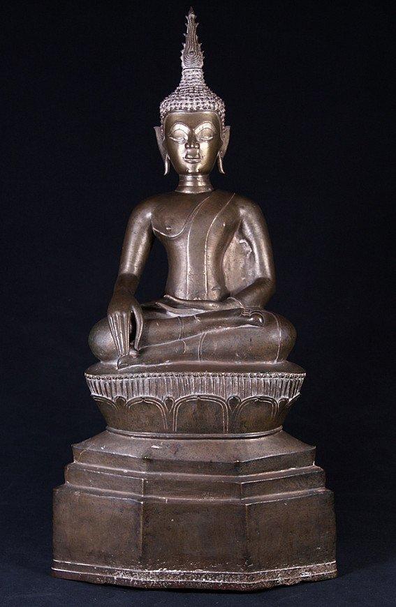 Antike bronze Laos Buddha Figur