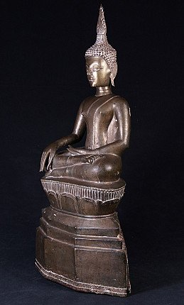 Antique bronze Laos Buddha statue