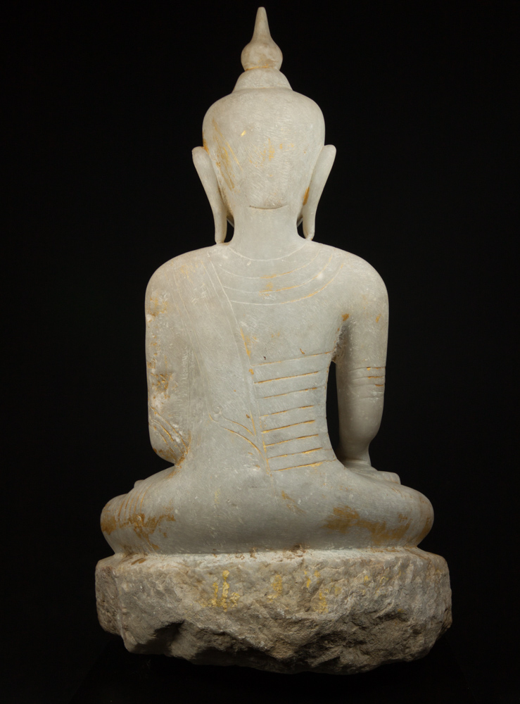 Antique marble Ava Buddha statue from Burma made from Marble