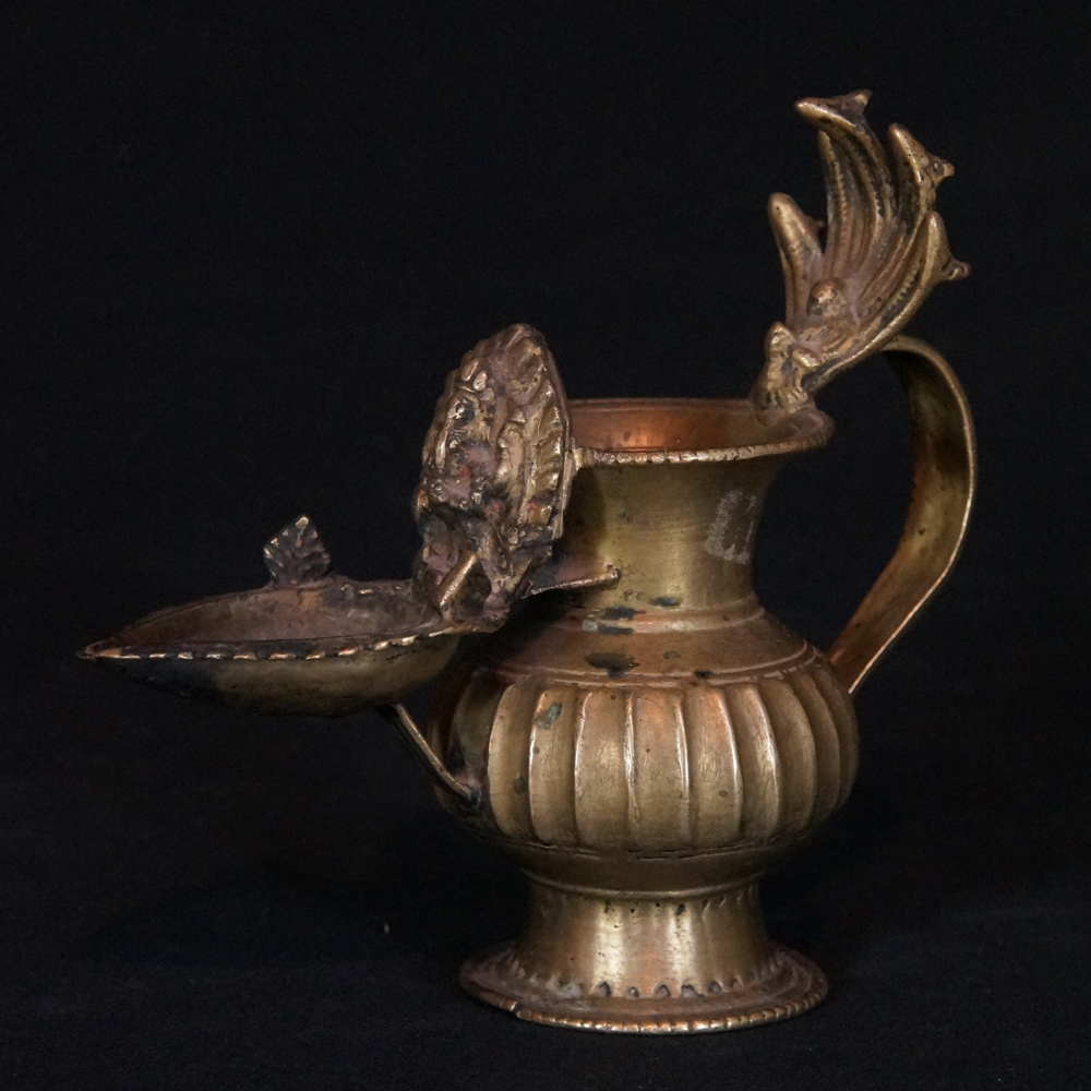 Antique Nepali Oil Lamp Sukunda From Nepal Made From Brass