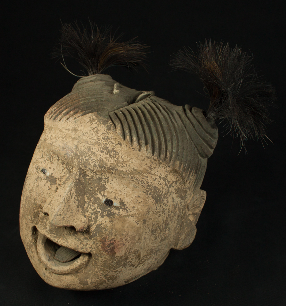 Old head of Burmese Puppet from Burma made from Wood