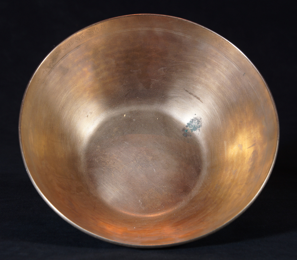 Old Nepali Manipuri Singing Bowl from Nepal made from Bronze