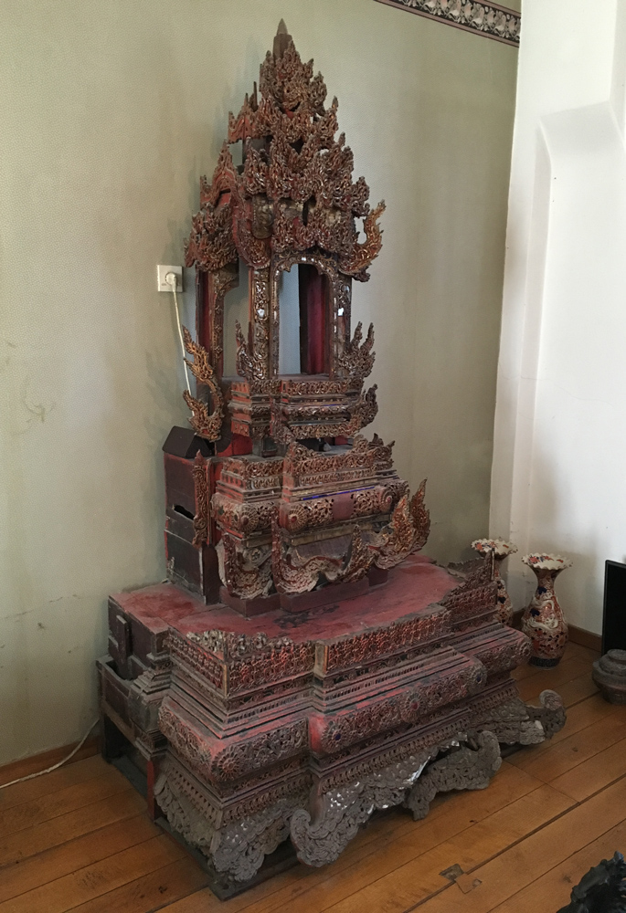 Antique Shan wall panel / throne backside from Burma