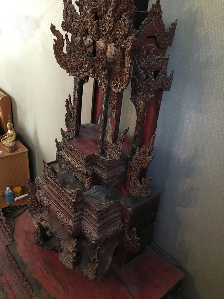 Large Shan Throne from Burma made from Wood