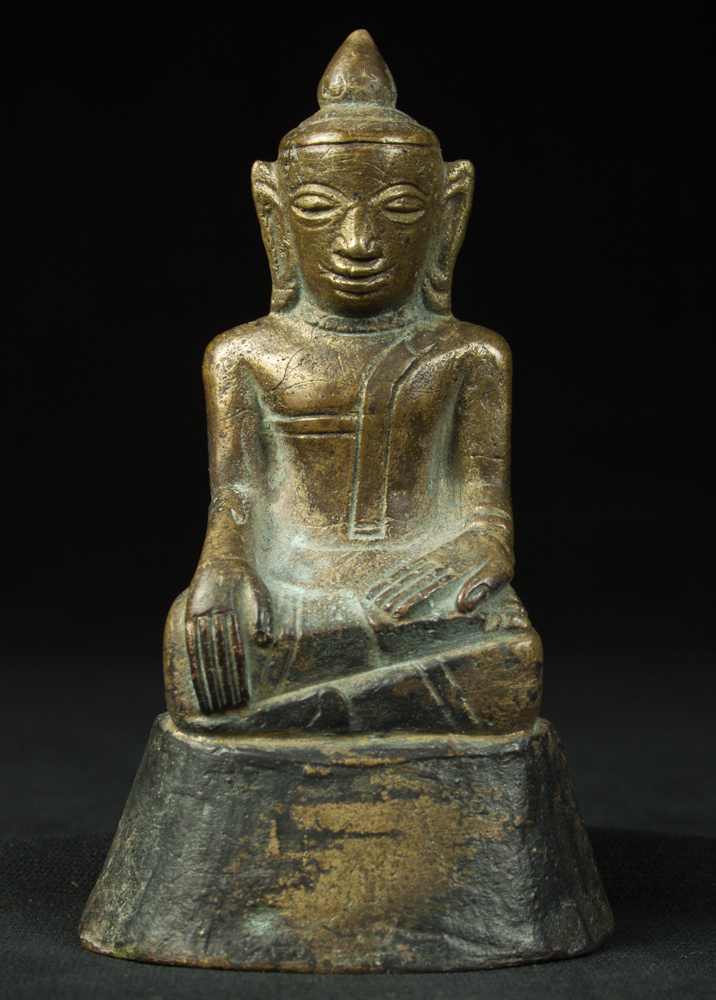 Old bronze Burmese Buddha statue from Burma