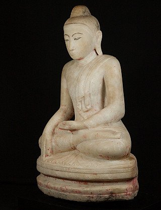 Antike marmor Mandalay Buddha Figur