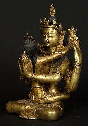 Old Nepali Shiva-Shakti statue