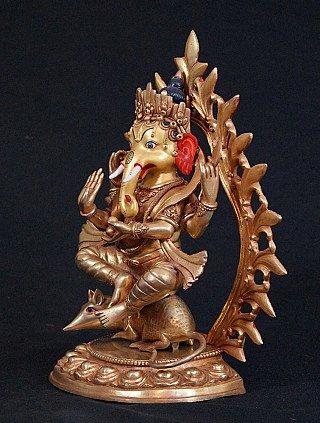 Bronze standing Ganesha statue