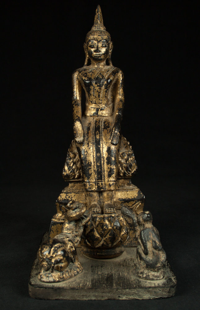 Thai wooden Buddha statue from Thailand