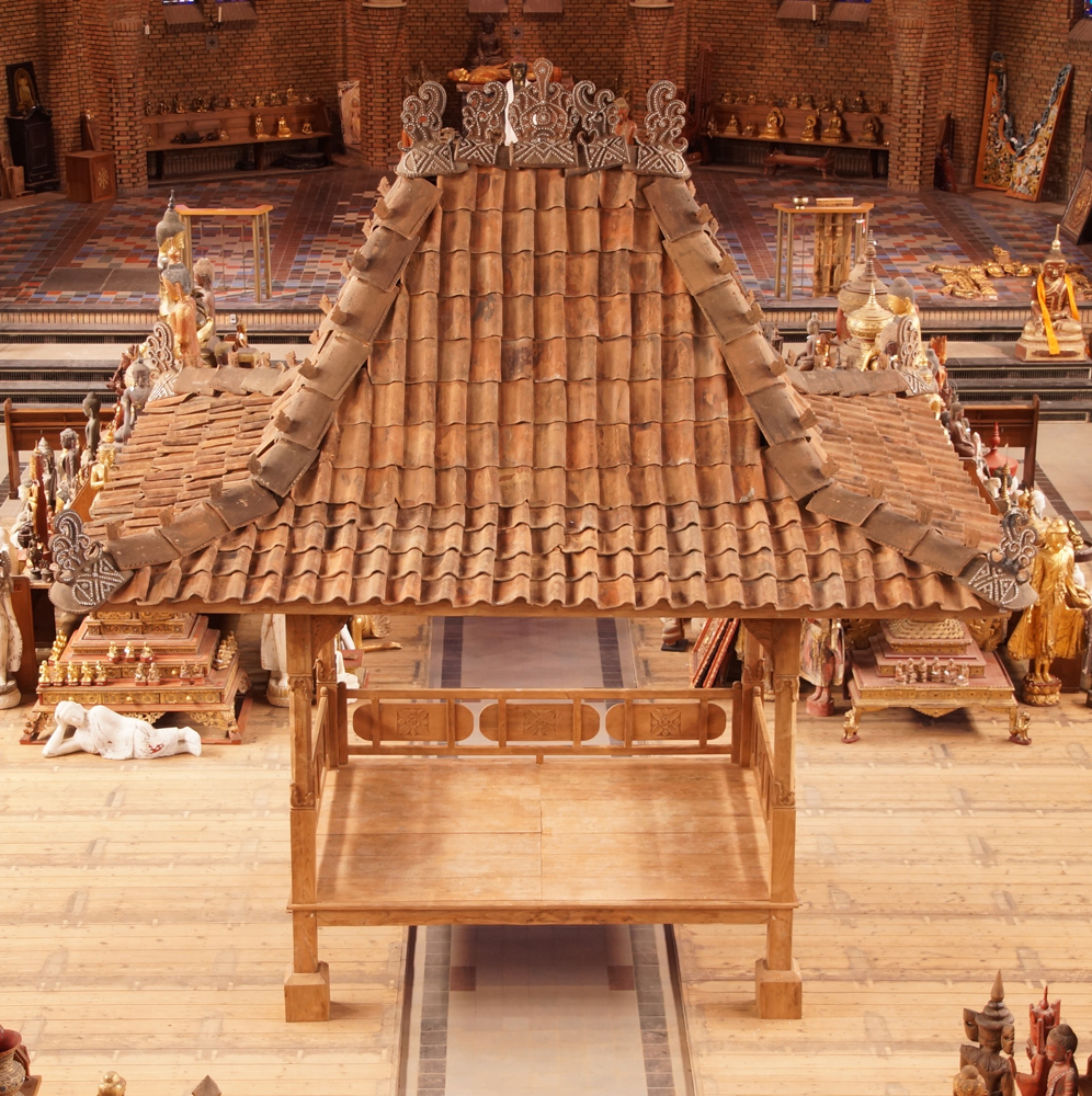 Original teakwooden temple house from Indonesia made from Wood