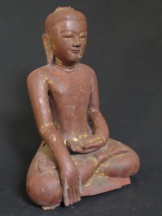 Antique Ava Buddha from Burma made from Wood