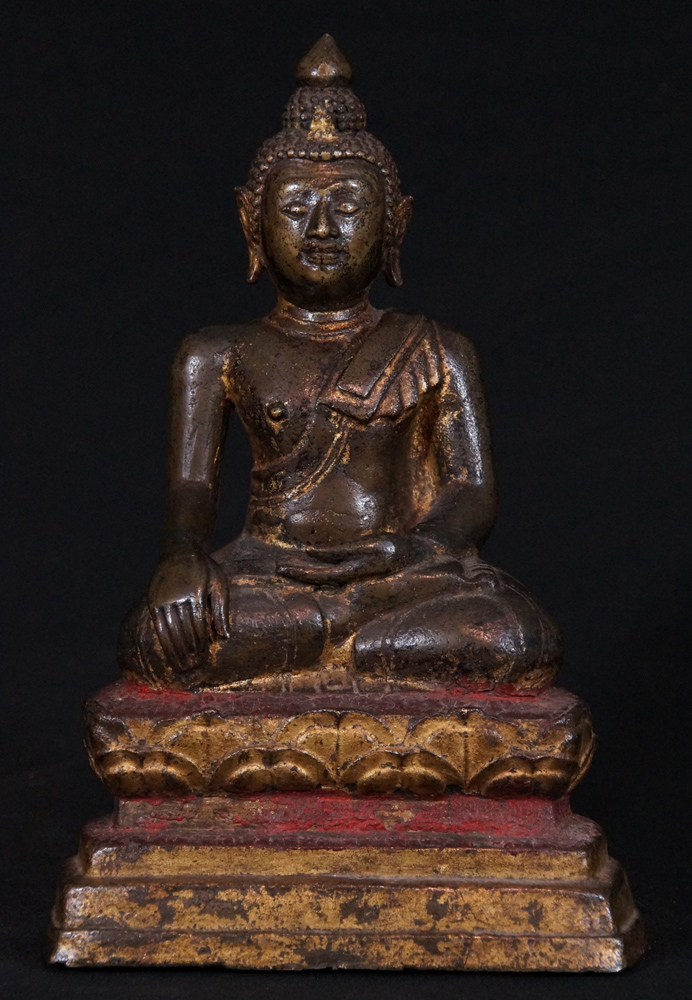 16-17th century North Thai Buddha from North Thailand made from Bronze