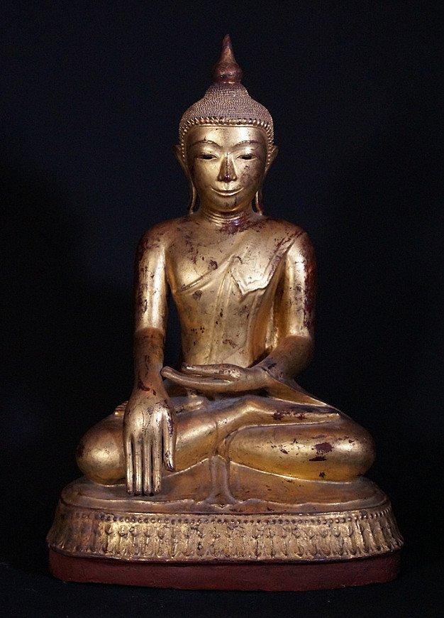 Antique Ava Buddha statue