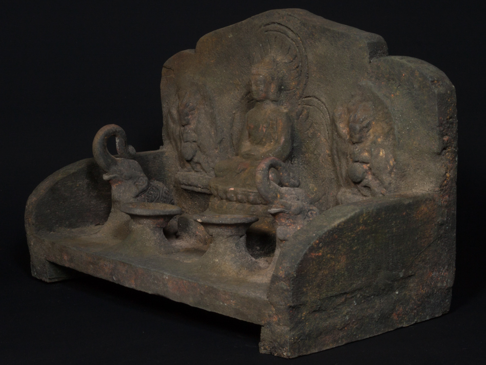 Old Nepali shrine from Nepal made from Wood and clay