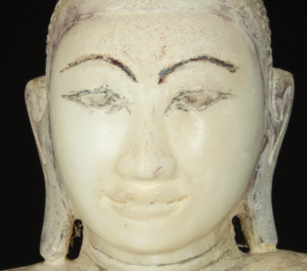 Antique marble Buddha statue from Burma made from Marble