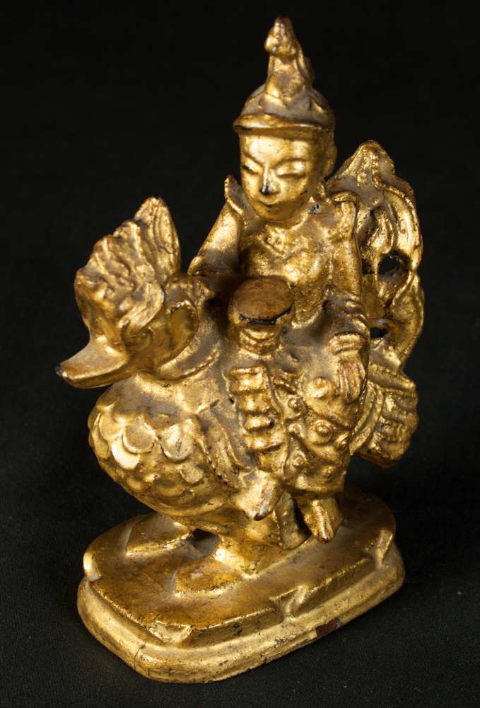 Antique Burmese Nat figure from Burma made from Wood