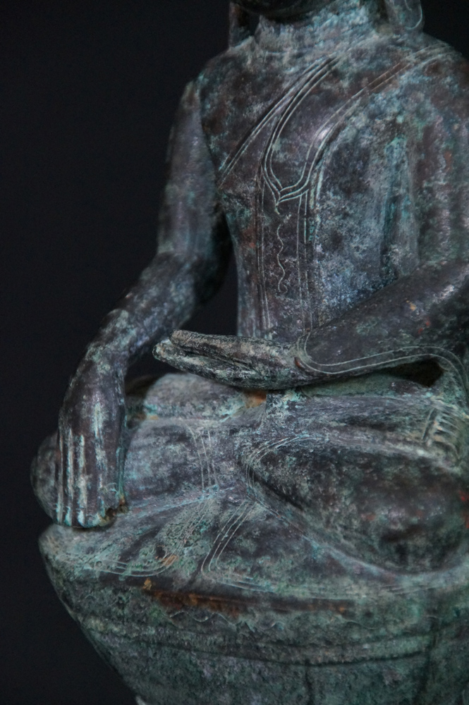 18th century Shan Buddha from Burma made from Bronze