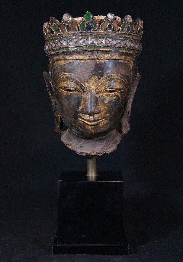 18e eeuws Shan Boeddhahoofd
