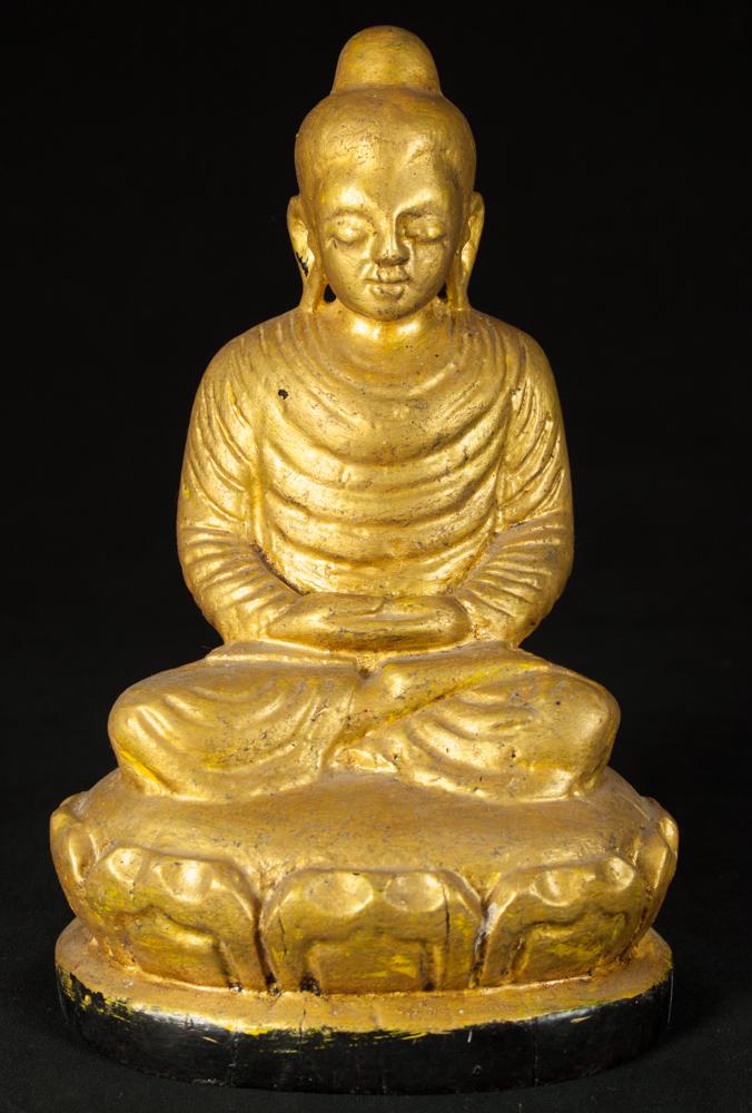 antike holzerne buddha figur aus birma gemacht aus holz. Black Bedroom Furniture Sets. Home Design Ideas