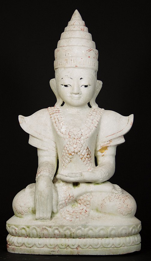 Gekroonde marmeren Boeddha