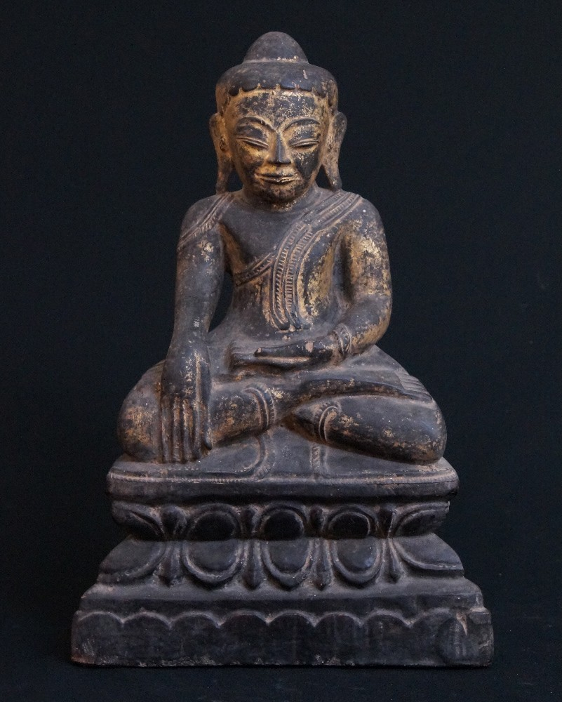 Antique Burmese Shan Buddha from Burma made from Wood