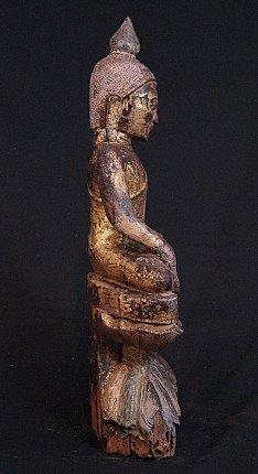 Antique wooden Ava Buddha