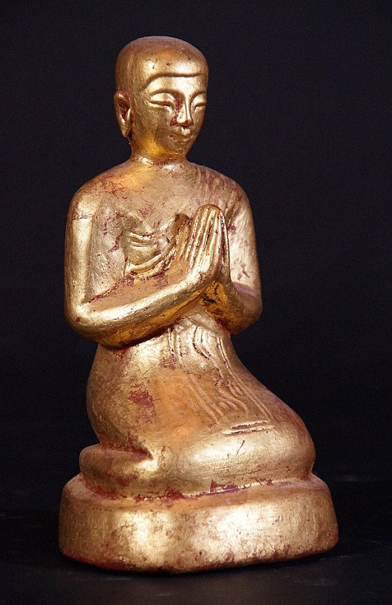 Alte Birmanische Monch Figur