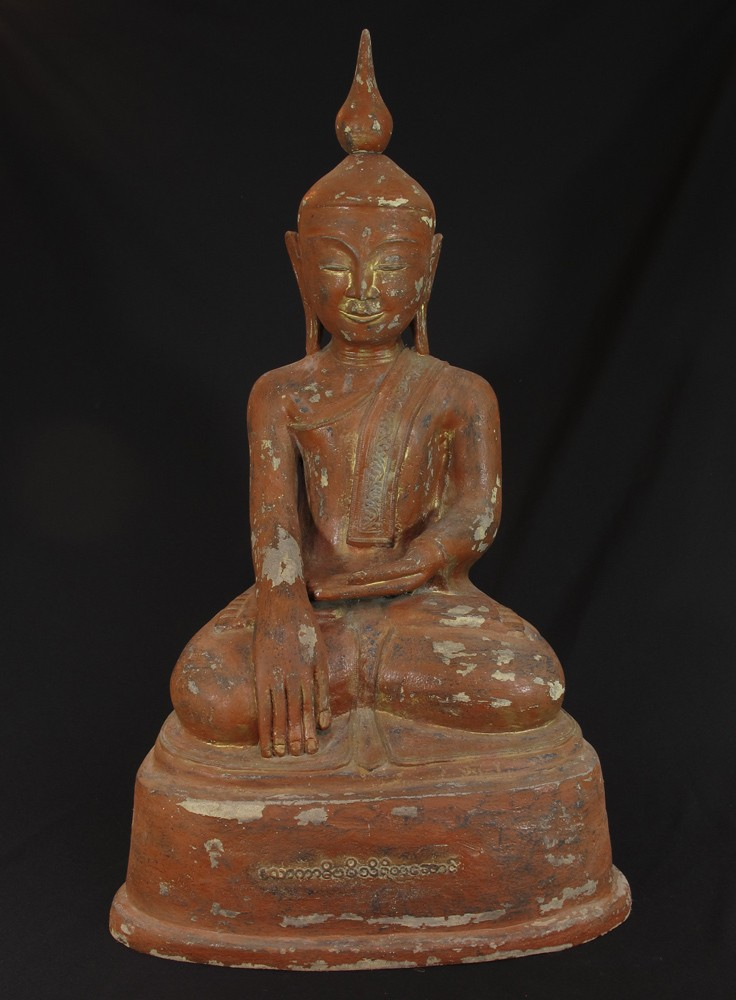 Antique lacquerware Buddha from Burma