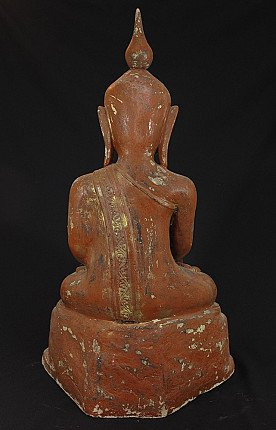 Antiker Buddha aus Lackkunst