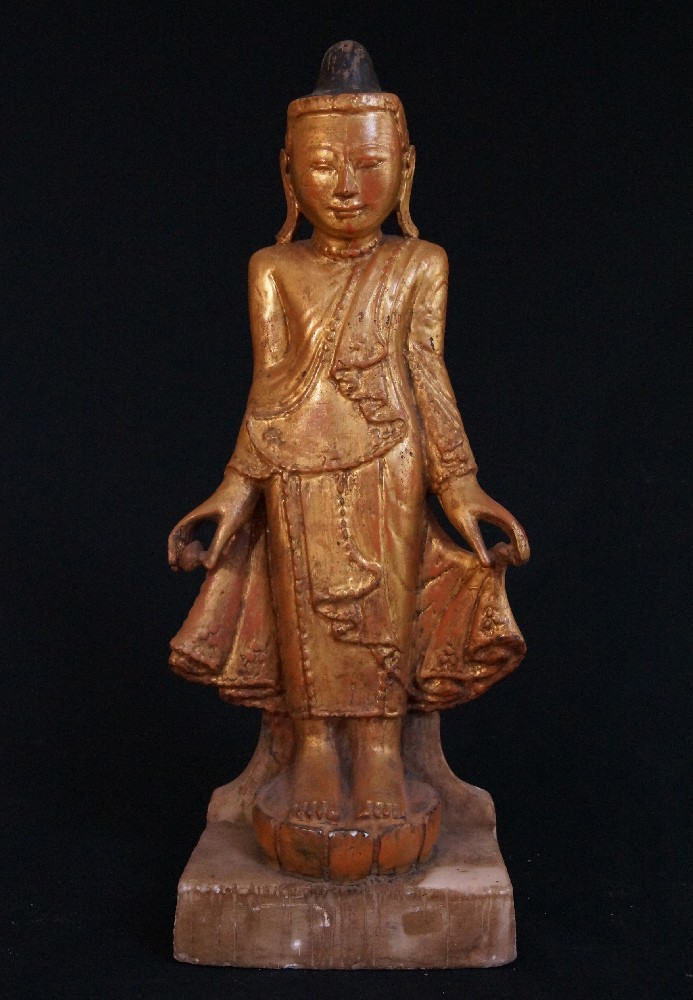 Antique marble Shan Buddha from Burma made from Marble