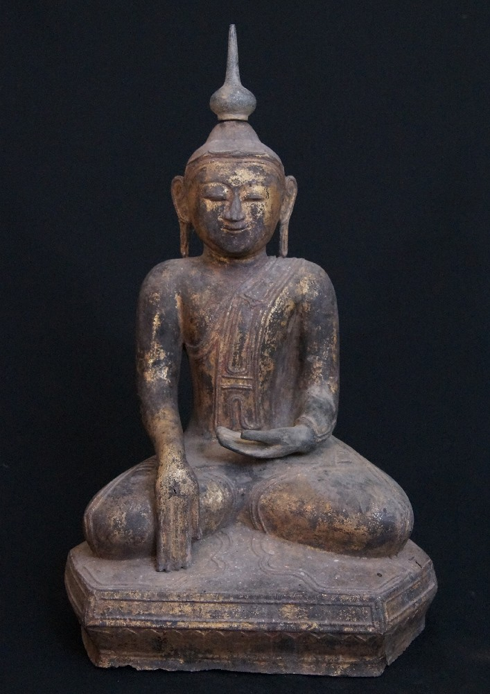 18th century Lacquer Buddha statue from Burma made from lacquer
