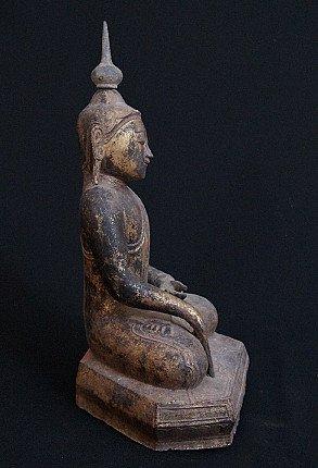 18. Jh. Lacquerware Buddha Figur