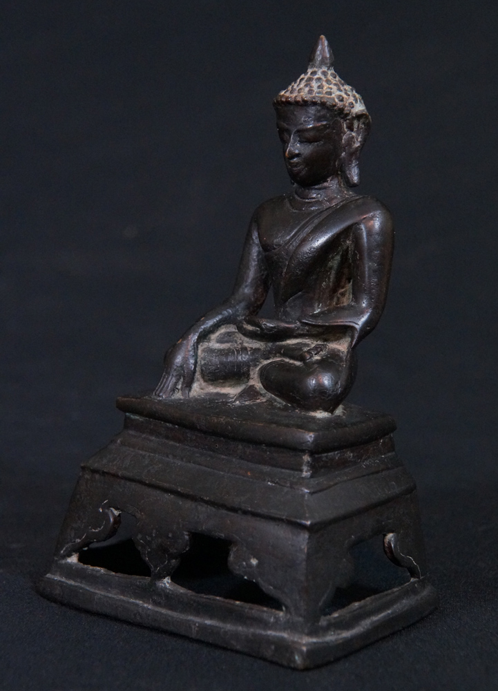 Antique Post Pagan Buddha from Burma made from Wood