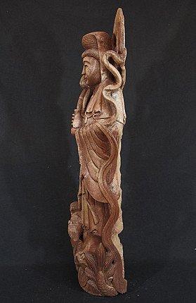Oude houten Kwan Yin