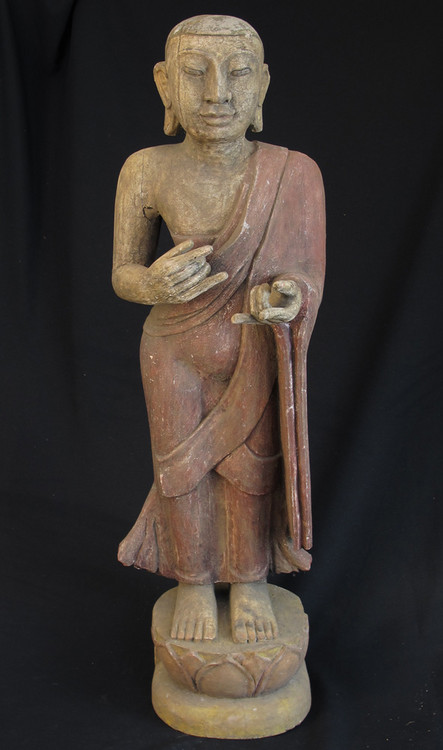Old standing monk from Burma