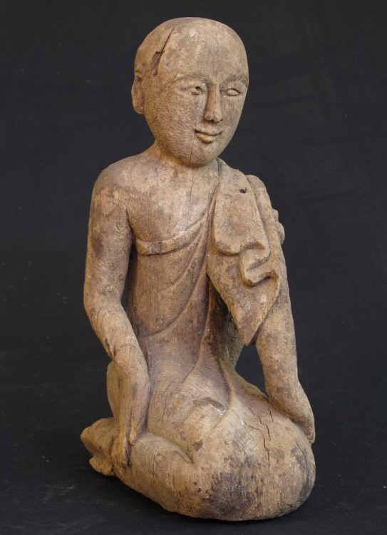 Antique monk statue from Burma