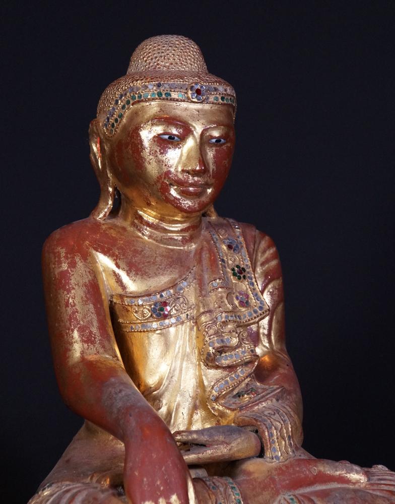 19th century Burmese Mandalay Buddha statue