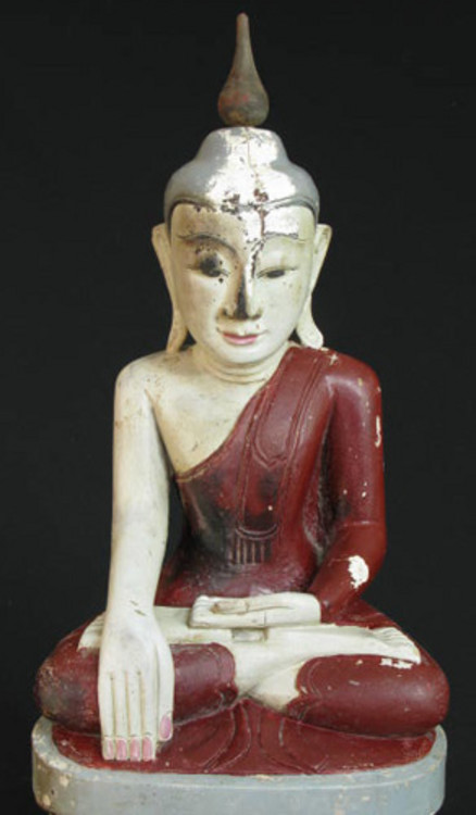 Antique Burmese Shan Buddha from Burma made from Bronze