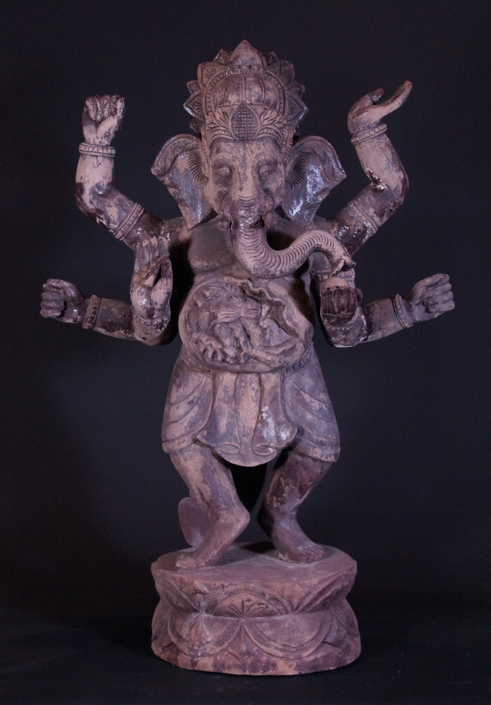 Old wooden Ganesha statue from Burma
