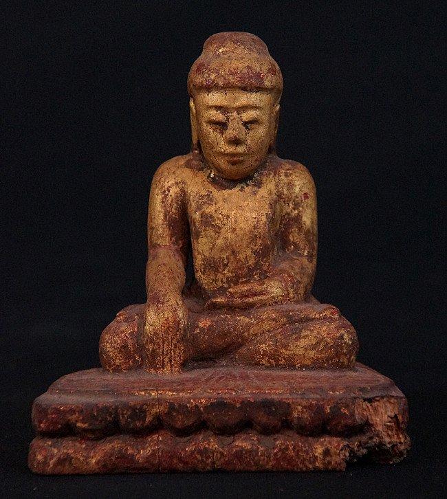 Antique Burmese Buddha statue